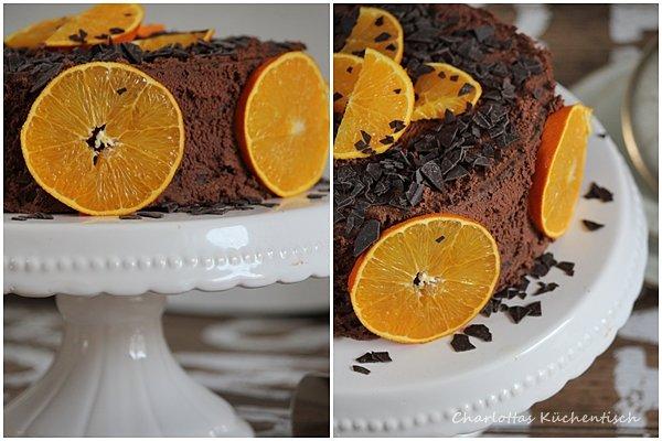 Schokoladentorte, Schokoladen-Orangen-Torte, Schoko-Torte, Rezept, Torte, Backen, Orangen, Schokolade