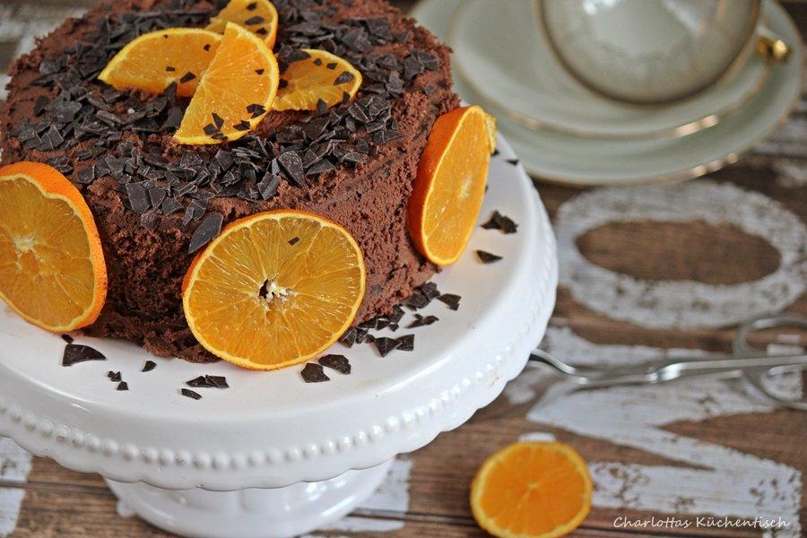 Schokoladentorte, Schokoladen-Orangen-Torte, Rezept