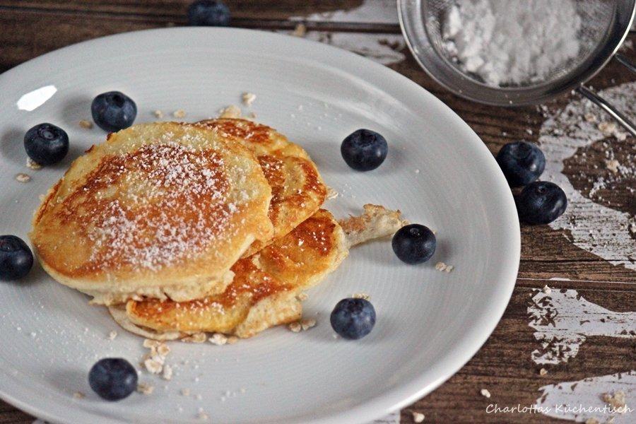 Blaubeer-Eiweiß-Pancake, Pancake, Pfannekuchen, Blaubeerpfannekuchen, Eiweißpfannekuchen