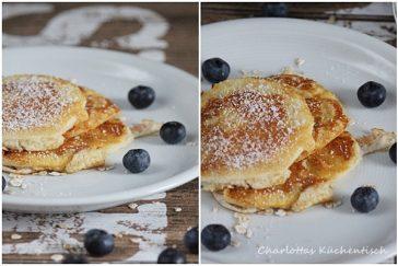 Blaubeer-Eiweiß-Pancake, Pancakes, Pfannekuchen, Blaubeerpfannekuchen, Eiweißpfannekuchen