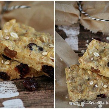 Eiweiß-Cranberry-Flapjack, Müsliriegel,
