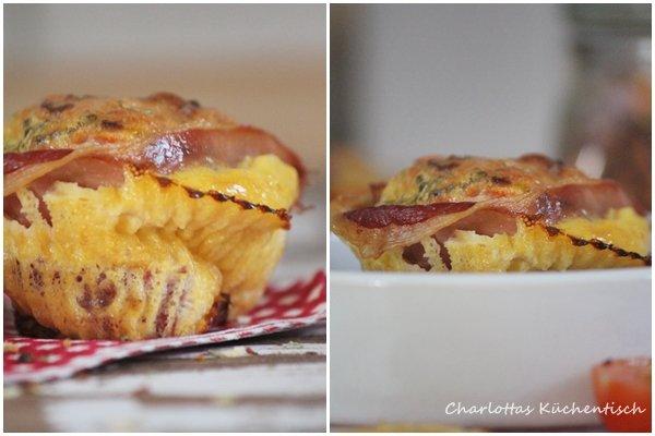 Frühstücksmuffin, Kochen, Rezept, Muffin, Schinken, Ei, Frühstück, herzhafter Muffin