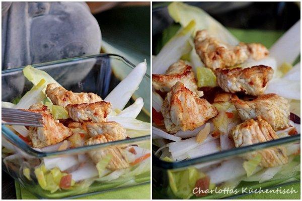 Kochen, Rezept, Chicoree, Orientalisch, Hähnchenbrustfilet, Salat, Chicoreesalat, Orientalischer Chicoreesalat
