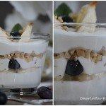 Dessert, Quarkspeise, RezeKochen, Rezept, Quark, Banane, Blaubeere, Dessert, Bananen-Blaubeer-Quark