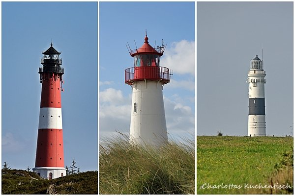 Sylt, Leuchtturm-Hörnum, Leuchtturm-List, Leuchtturm-Keitum,