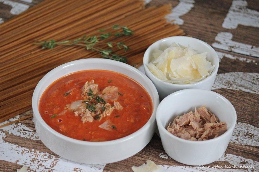 Spagetthi-a-la-tonno, Thunfischsauce, Pasta, Thunfischsoße, Rezept