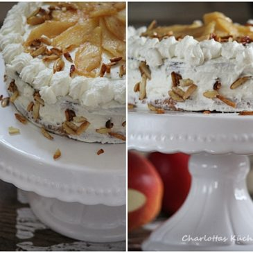 Apfel-Frischkäse-Torte, Torte, Backen, Rezept
