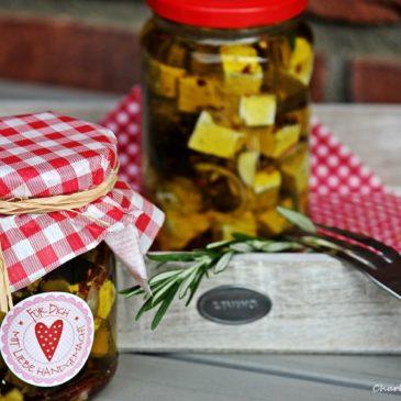 Fetakäse, eingelegter Fetakäse, Geschenk aus der Küche, BBQQUE