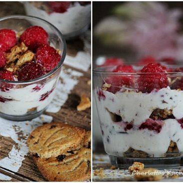 Himbeer-Lifekeks-Trifle (ein Dessert in nicht ganz klassische Form, aber mindestens ebenso lecker)