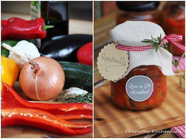 BBQUE, Grillbeilage, Ratatouille im Glas, Rezept, Geschenk aus der Küche
