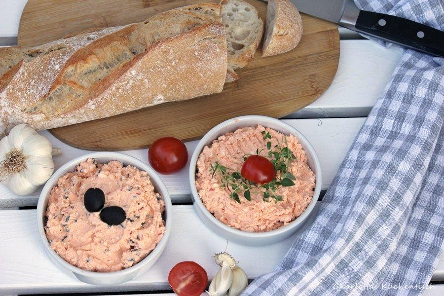 Kochen Rezept Dip Feta Olive Grillen BBQ, Feta-Oliven-Dip,