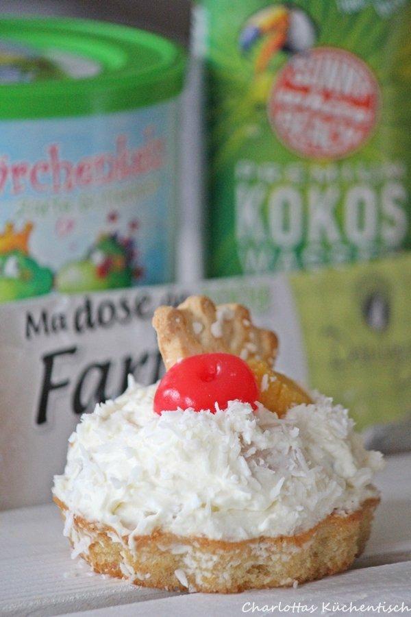 Backen Rezept Kokos Frucht Törtchen
