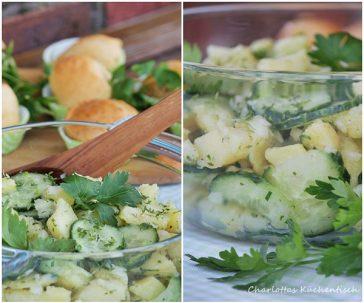Kochen, Rezept, Kartoffel, Gurke, Kräuter, Kartoffelsalat, Gurkensalat, Grillbeilage