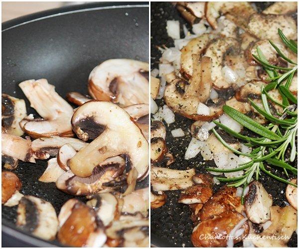 Champignons, marinierte Champignons, Rosmarin, Grillbeilage, BBQUE-Beilage,