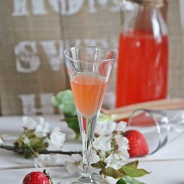 Rhabarber-Erdbeer-Likör