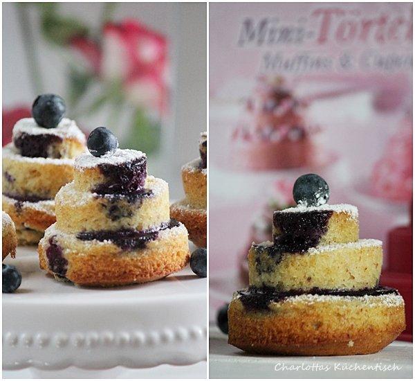 Mini-Törtchen, Muffin, Backen, Rezept, Heidelbeeren, fester-Kuchen,