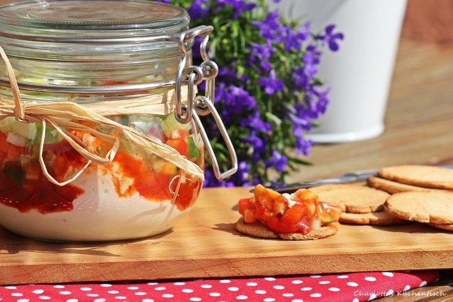 Dip, Salsa-Schicht-Dip, Rondjes, Degustabox