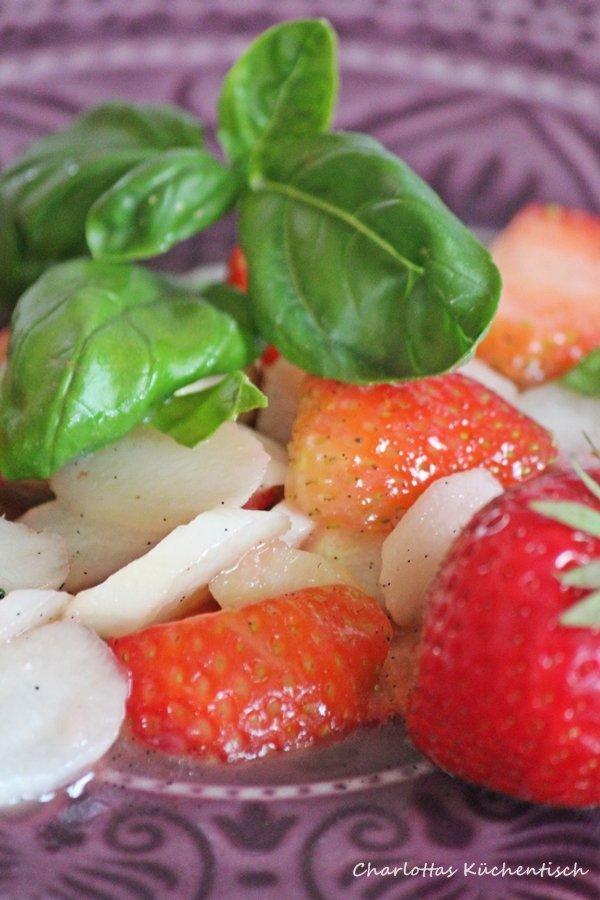 Erdbeer-Spargel-Salat, Erdbeeren, Sommersalat, lecker, Rezept