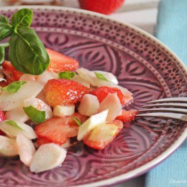 Spargel-Erdbeer-Salat, Erdbeeren, Sommersalat, lecker, Rezept