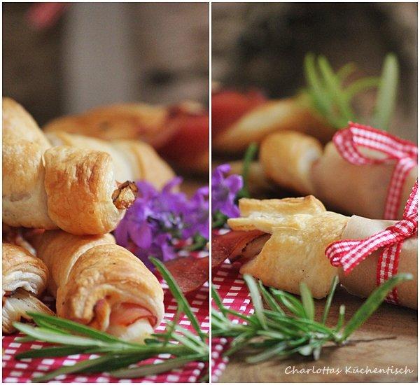 SpargeSpargel-Schinken-Blätterteig-Röllchen, Blätterteig, Spargel, Schinken, Rezept, Kochen, Picknick, Fingerfood