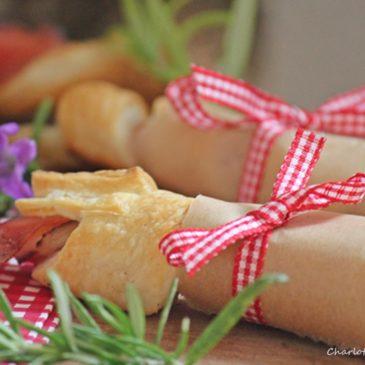 Spargel-Schinken-Blätterteig-Röllchen (oder Sommer an der Möhnetalsperre)