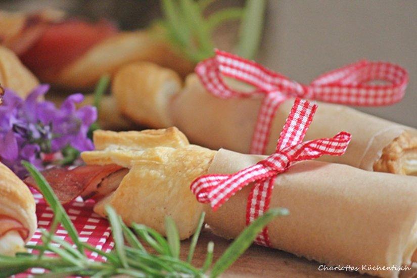 Spargel-Schinken-Blätterteig-Röllchen, Blätterteig, Spargel, Schinken, Rezept, Kochen, Picknick, Fingerfood