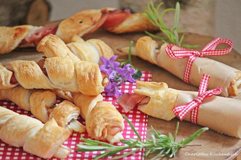 SpargelSpargel-Schinken-Blätterteig-Röllchen, Blätterteig, Spargel, Schinken, Rezept, Kochen, Picknick, Fingerfood