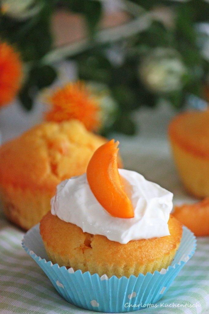 Aprikosenmuffin, Muffin, Cupcake, Quarktopping, Aprikosenmuffins mit Quarktopping, Rezept, Backen