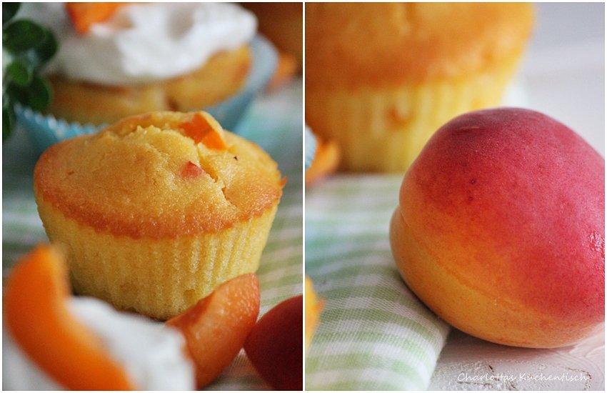 Backen, Rezept, Aprikose, Muffin, Muffins, Quarktopping, Aprikosenmuffins mit Qaurktopping,