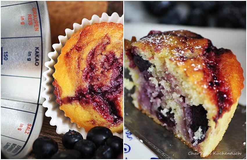 Glühweinmarmelade, Blueberry Muffins, Muffins, Blaubeeren, Backen, Rezept, Blaubeermuffin,