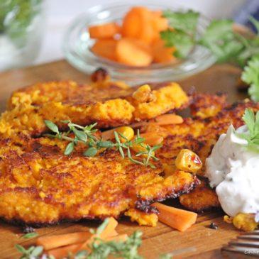 Was koch' ich heute? Karottenpuffer mit Kräuterquark und dazu eine Buchrezension!
