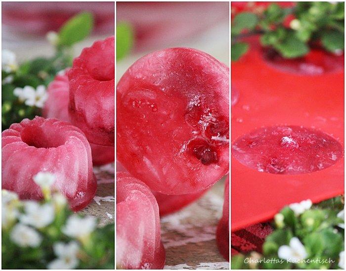 Eiswürfel, Himbeer-Eiswürfel, Erfrischungsgetränk