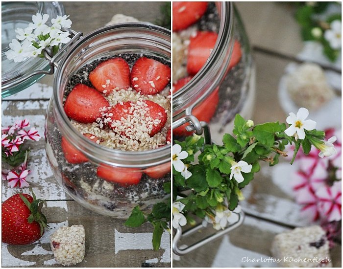 Overnight-Oats Himbeer-Buttermilch-Sesam