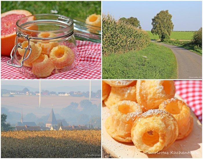 Cheesecake-Minigugel, Cheesecake, Minigugl, Minigugel, Quark, Backen, Rezept, Grapefruitsirup, Picknick, Ense