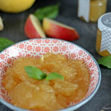 Beschwipste Apfel-Ingwer-Basilikum-Marmelade