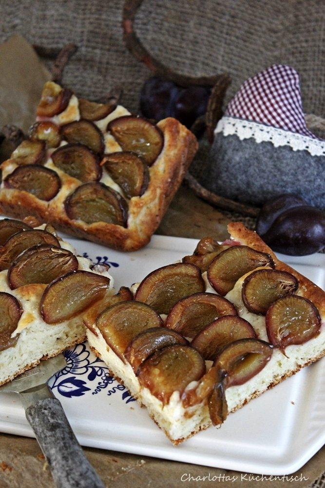 Pflaumenkuchen, Quark-Öl-Teig, Pflaumen, Backen, Zwetschgenkuchen, Blechkuchen