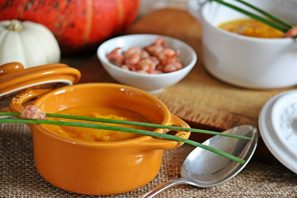 Kürbissuppe, Hokaido-Kürbis, Petersilienwurzel, Kochen, Rezept, Suppe, Seelenwärmer, Herbstblues