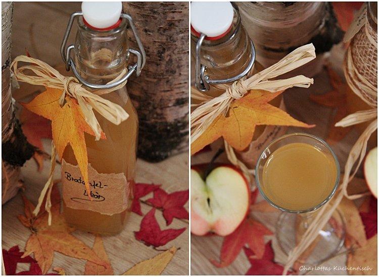 Bratapfellikör, Likör, Herbstblues, Geschenk aus der Küche, Bratapfel, Äpfel,