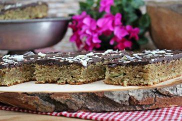 Zucchini-Mandel-Schnitten, Zucchini-Mandel-Kuchen, Zucchinikuchen, Backen, Rezept