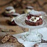 Schwarzwälder Kirsch Torte, Törtchen, Kirschtorte, Kirschkuchen, Frischkäse