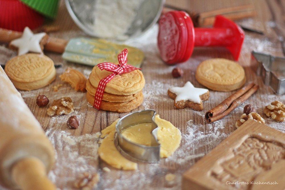 Stempelkekse, Butterkekse, Weihnachtsplätzchen, Weihnachtsbäckerei, Weihnachten, Christmas, Backen