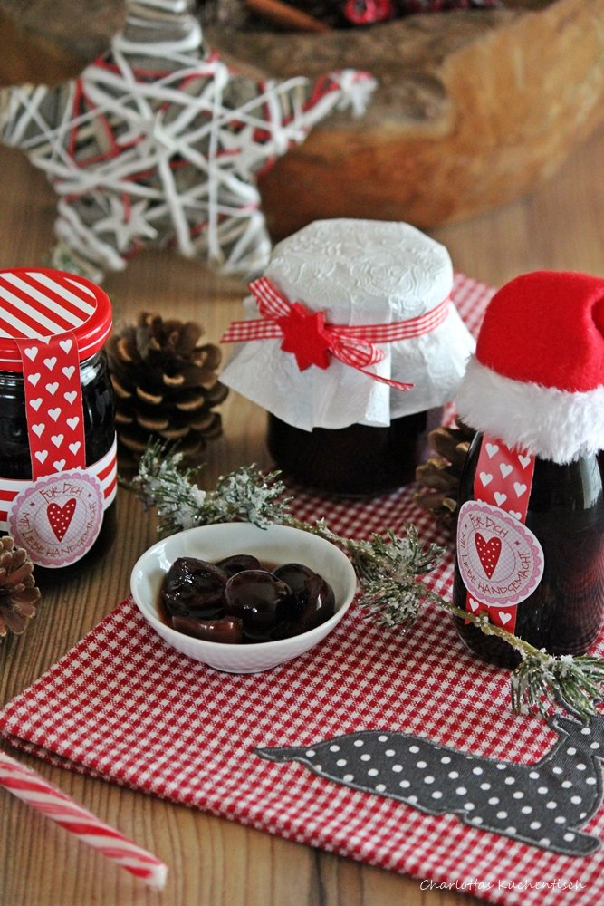 Gewürzkirschen, eingelegte Kirschen, Geschenke aus der Küche, Eingelegtes, Likör, Rezept, homemade