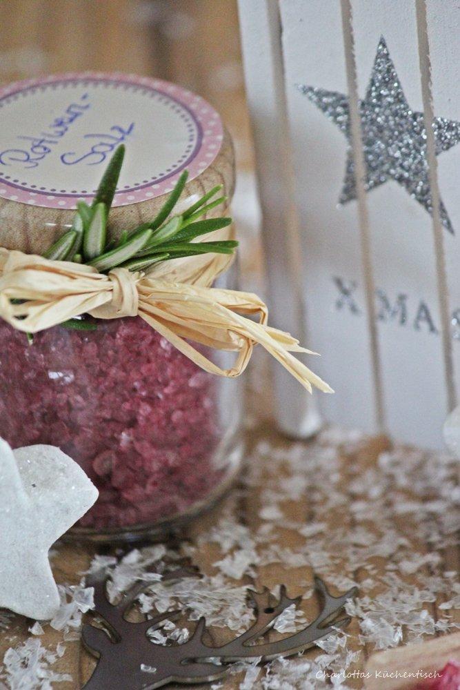 Rotweinsalz, selbstgemachtes Salz, Salzrezept