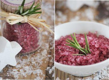 Rotweinsalz, selbstgemachtes Salz, Geschenke aus der Küche, lecker, würzen