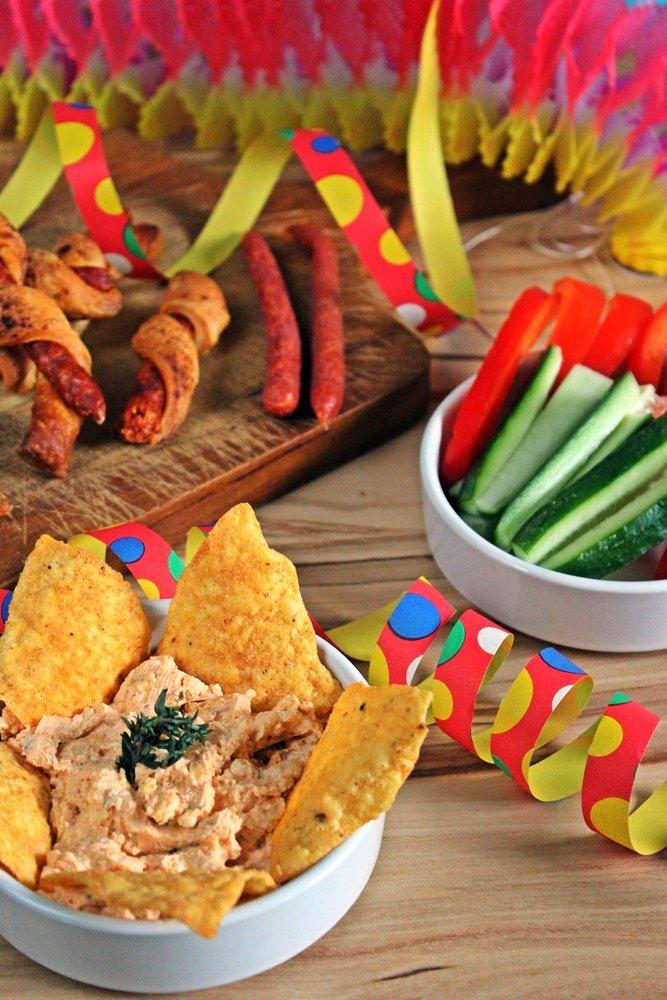Totilladip, Dip, Tortillas, Blätterteigstick, Blätterteig, Minisalami
