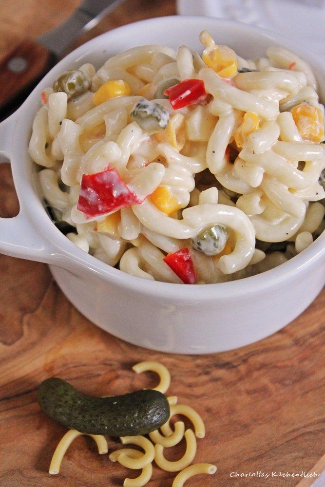 Nudelsalat, Salat, Nudeln, Pasta, BBQUE, Grillbeilage, Partyfood, Lunchbox, Picknick