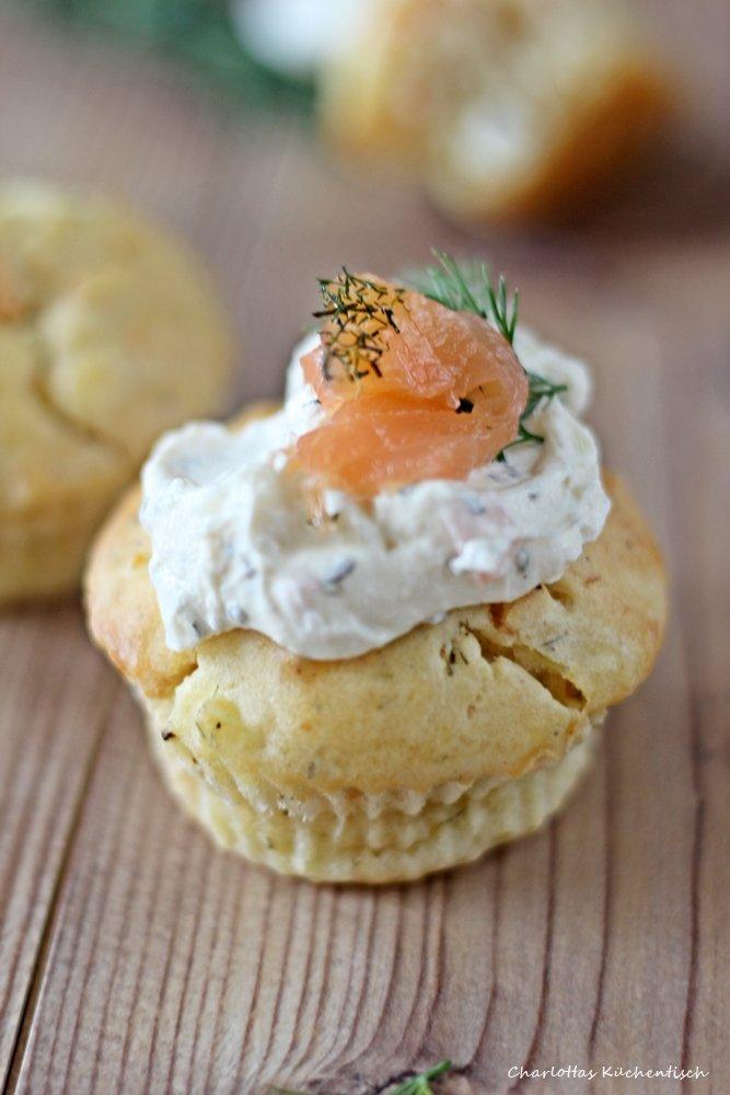 Lachsmuffins, Muffins, herzhafte Muffins, Lachsdip, Dip, Fingerfood, Partyfood, lecker
