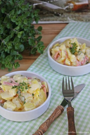 Kartoffelsalat, Kartoffeln, Fleischsalat, klassischer Kartoffelsalat, Grillspaß, Partyfood, Picknick