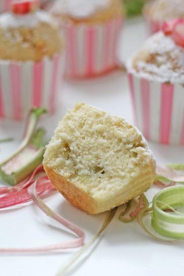 Rhabarber Wölkchen Muffins, Muffins, Rhabarber, Sahne, Wölkchenkuchen
