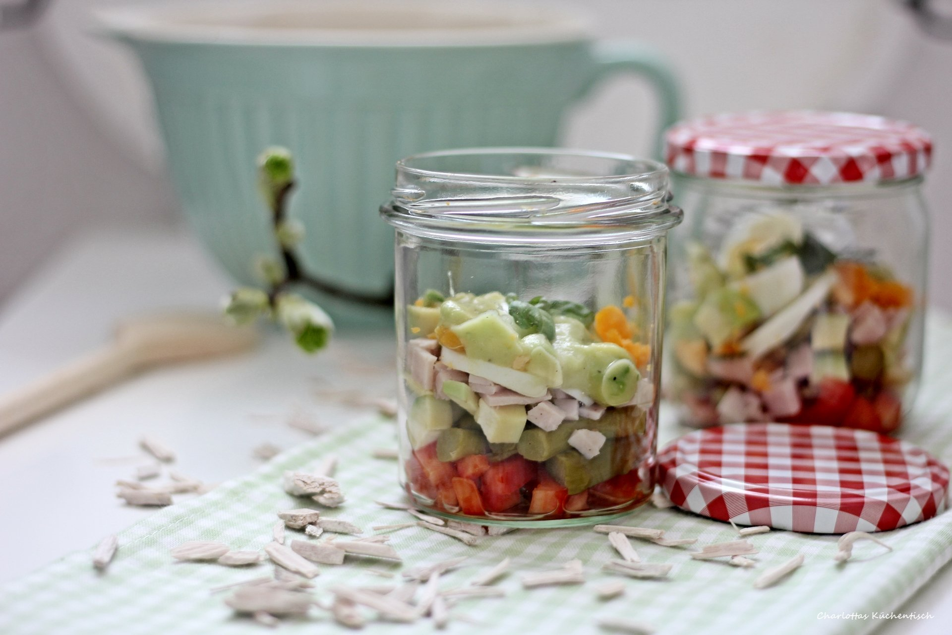 Spargelsalat, Avocadosalat, Avocado, Avocado Eier Salat, Spargel, Eiersalat